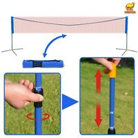 New Badminton Net Adjustable Height Volleyball Tennis w Stand Sport Goal Outdoor