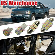 11-pc White LED Interior Lights Package Inside Kit For Chevy Avalanche 2007-2013