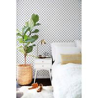 Polka Dot Small Dots Pattern Black and White removable wallpaper Adhesive