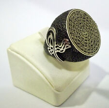 925 STERLING SILVER MEN'S RING WITH 99 NAMES OF ALLAH (C.C) - AL ASMA UL HUSNA