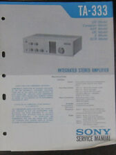 Sony TA-333 hifi amplifier service repair workshop manual (original copy)