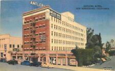 1940s San Bernardino California Antlers Hotel roadside Teich postcard 12550