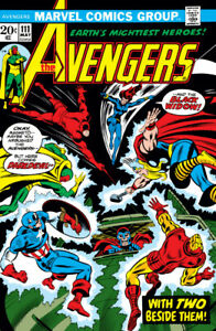 THE AVENGERS #111 MAY 1974 BLACK WIDOW IRON MAN THOR ISSUE COMIC NICE VF+