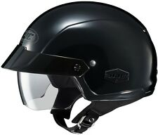 HJC IS-Cruiser IS-Crusier Motorcycle Half Helmet Black M MD Medium Sunshield DOT