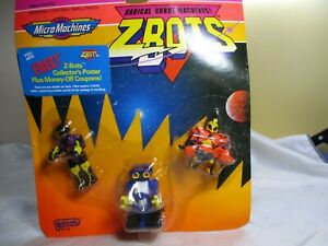 Vintage Galoob Micro Machines Zbots 3 Figures