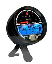 Acewell ACE-4654AB Black Anodised CNC 15000 RPM speedometer ACE 4654 Pod 4653