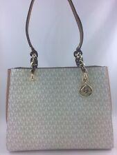 New Authentic Michael Kors Sofia Large Tote Shoulderbag Handbag Vanilla/Acorn