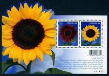 SUNFLOWER = Souvenir sheet of 2 stamps Canada 2011 #2440 MNH VF