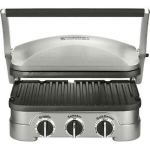 Cuisinart Multi-Functional Griddler with 5 Cooking Options (CGR-4NEC)