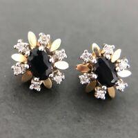 Zauberhafte Saphir & Diamanten Ohrringe aus 585 14K Gold