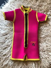 Vintage Little Kids Shorts Wetsuit Retro Pink 2t -18mo