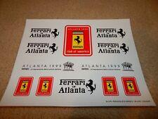Rare set of Ferrari Club of America Atlanta Annual Meet 1999 sticker set 308 355