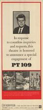 PT 109 original 1963 14x36 insert movie poster JFK/U.S. NAVY/WW2/JOHN F. KENNEDY
