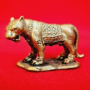 Powerful Magic Tiger LP Pern Talisman Protection Lucky Money Thai Amulet Figure