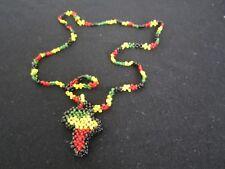 African Map Ethiopian Jewelry Africa Necklace  pendants Style Rasta