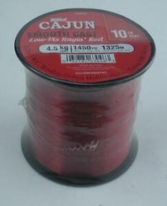 Zebco 2136287 Cajun Red Low Visibility Line Quarter Lb Spool 10 Lb. Test 25896