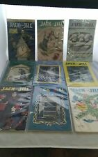 vintage JACK AND JILL MAGAZINE LOT of 9, 1949-1954