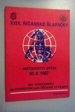 XXIX ricanske slapacky 30.8.1987 CSSR moto cross programmes étaient très faciles Tchèque Prague