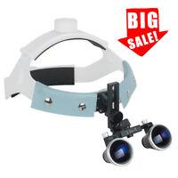USA Headband Type Dental Medical Surgical Binocular Loupes 3.5X 420mm Magnifier