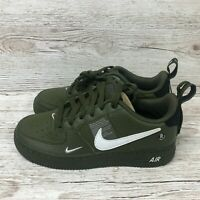 NIKE AIR FORCE 1 UTILITY OLIVE CANVAS GS size UK 3.5 EUR 36 US 4Y AR1708 300 1