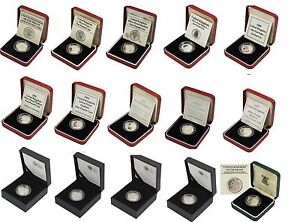 SILVER PROOF PIEDFORT £1 ONE POUND COINS CHOICE OF YEAR 1983 TO 2015 WITH COA