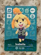 Animal Crossing Amiibo Card ISABELLE 001 Mint From Either Series 1, 2, 3, 4, 5.