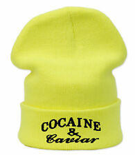 Winter Beanie Hat Bad Hair Day Cocaine&Caviar Wasted Youth Yolo GEEK OVERSIZED