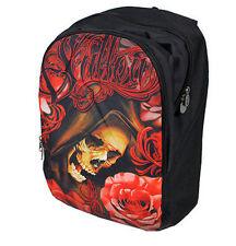 Sullen Session Conklin Filigree Rose Tattoo Skull Punk Skater Book Bag Backpack
