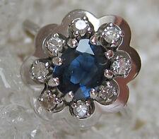 Nice 🎁 ✨0,20 ct.✨ Diamant in aus 585 Gold Ring Safir mit Brillant Saphir Safire