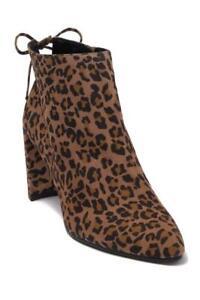 $550 - Stuart Weitzman Lofty Camel Cheetah Suede Bootie Size 6.5