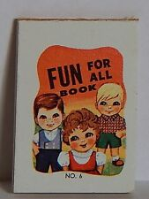 VINTAGE 1960 FUN FOR ALL BOOK NO.6 CRACKER JACK PRIZE TOY