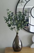 Artificial Flowers  - 3  Eucalyptus Stems - Home Decor Greenery Top Quality
