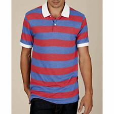 ALTERNATIVE APPAREL Short SLEEVE Ugly POLO Collar SHIRT Men sz XL Red BLUE White