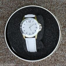 MONTRE FEMME MODELE SYNONYME BRACELET BLANC  GEORGE RECH BOITIER METAL