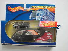 HOT WHEELS TREASURE HUNT PAVEMENT POUNDERS WITH MATCHING CAR  LIMITED EDITION