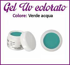 GEL UV NAIL ART COLORATI  RICOSTRUZIONE UNGHIE NAILS TIPS TIP 5ML VERDE ACQUA