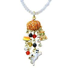 Kirks Folly Baby Peter Pumpkin Beaded Necklace GT Ghost, Owl, Candy Corn Charms