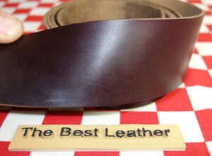 HORWEEN BURGUNDY CHROMEXCEL LEATHER STRAP 6 oz. VARIOUS SIZES AVAILABLE.