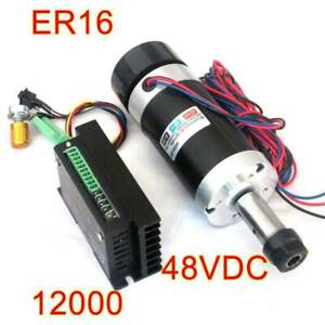 New ER16 500W Brushless Spindle + WS55-220 BLDC Motor Driver Controller
