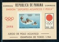 Panama MNH: Scott #454Ef (Michel BL #22) Tokyo OLYMPICS Water Polo IMPERF CV$20+