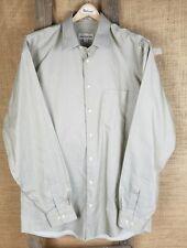 Pronto Uomo men 16 36/37 long sleeve shirt button down 80's 2-ply non iron