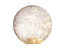 30 LED Lights Crackle Glass Ball-( 15 X 15 X 14.5 cm) approx