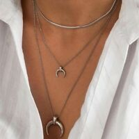 Halskette Damen Halsketten Silber Schlangen Link Choker 40 cm Kette Edelstahl