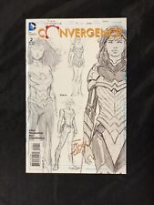 Convergence #2 1:100 Wonder Woman Sketch Variant * Signed David Finch