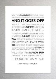Arctic Monkeys - Mardy Bum - Colour Print Poster Art