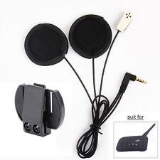 Mic/Speaker Soft Intercom Headset + Clip for V6 Moto Bluetooth Interphone 1200M