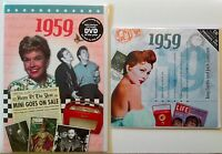 60th BIRTHDAY or ANNIVERSARY GIFT  - 1959 DVD , CD & Year Greeting Card