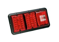Bargman 84 85 Trailer RV Triple Tail Light Red & Red LED Incndscnt Backup BLACK