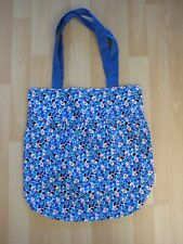 Borsa SHOPPING in tessuto blu con Top Shop