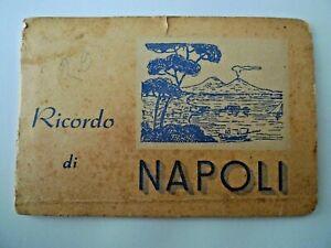 ITALY RICORDO DI NAPOLI SELECTION OF NAPLES VIEWS BOOKLET UNUSED  1.